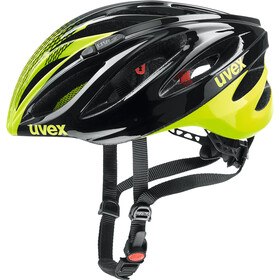 UVEX Boss Race Fietshelm, black-neon yellow